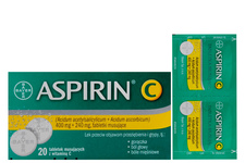 ASPIRIN C 20 tabletek musujących