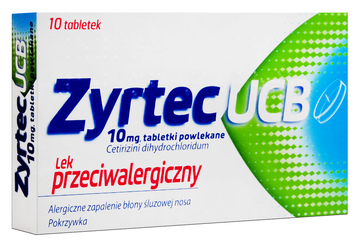 ZYRTEC UCB 10 tabletek