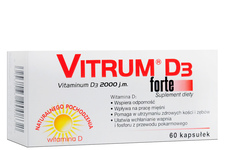 VITRUM D3 FORTE 2000 j.m. 60 kapsułek