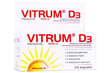 VITRUM D3 1000j.m. 120 kapsułek
