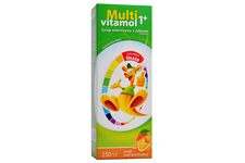 MULTIVITAMOL 1+ SMAK POMARAŃCZOWY 250 ml syrop