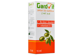 GARDVIT OLIVE SPRAY DO GARDŁA Z WITAMINĄ A+E 15 ml