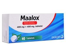 MAALOX 400 mg + 400 mg 40 tabletek