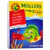 MOLLER'S OMEGA-3 RYBKI SMAK OWOCOWY 36 żelek