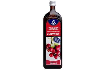 ŻURAVITAL 100% SOK Z OWOCÓW ŻURAWINY 980 ml
