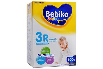 BEBIKO JUNIOR 3R NUTRIFLOR+ Z KLEIKIEM RYŻOWYM 800 g