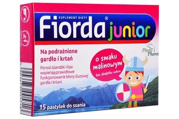 FIORDA JUNIOR SMAK MALINOWY 15 pastylek
