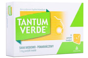 TANTUM VERDE SMAK MIODOWO-POMARAŃCZOWY 30 pastylek