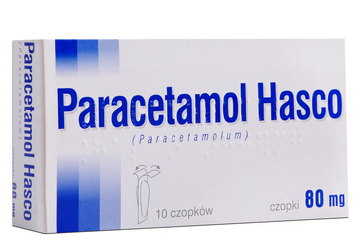 PARACETAMOL 80 mg 10 czopków
