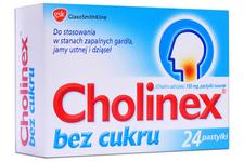 CHOLINEX BEZ CUKRU 24 pastylki