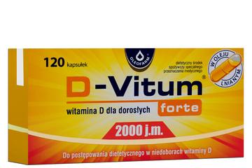 D-VITUM FORTE 2000 j.m. 120 kapsułek