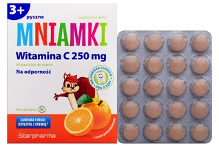 MNIAMKI WITAMINA C 250 mg 60 pastylek do ssania