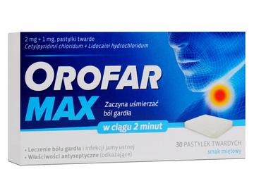 OROFAR MAX SMAK MIĘTOWY 30 pastylek
