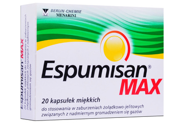ESPUMISAN MAX 20 kapsułek