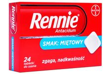 RENNIE ANTACIDUM SMAK MIĘTOWY 24 tabletki do ssania