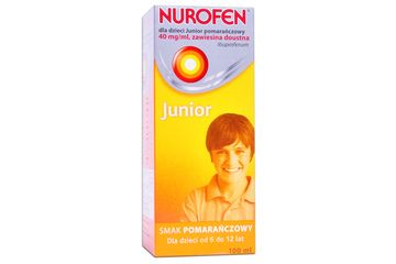 NUROFEN JUNIOR SMAK POMARAŃCZOWY 40 mg/1 ml 100 ml syrop