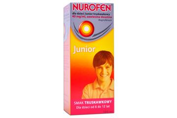 NUROFEN JUNIOR SMAK TRUSKAWKOWY 40 mg/1 ml 100 ml syrop