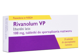 RIVANOL VP 100 mg 5 tabletek