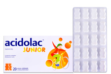 ACIDOLAC JUNIOR MISIO-TABLETKI SMAK POMARAŃCZOWY 20 tabletek