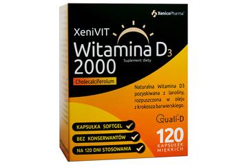 XENIVIT WITAMINA D 2000 120 kapsułek